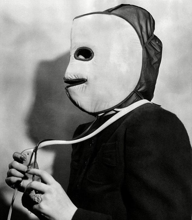 маска для разогрева лица, Салон красоты начала 20 века
