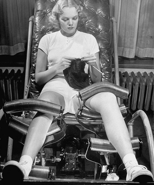 антицеллюлитный массаж, Салон красоты начала 20 века