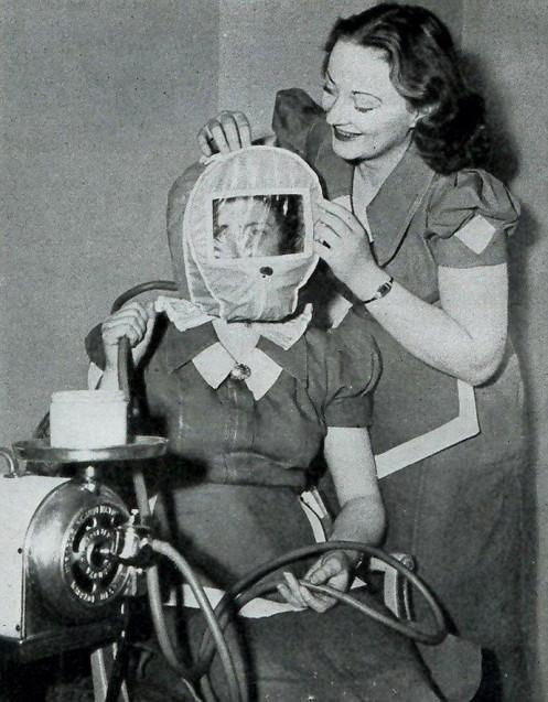 вакуумная маска, Салон красоты начала 20 века